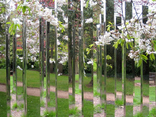 Follow Me by Jeppe Hein, 2009    A mirrored labyrinth in the gardens of Royal Fort House, University of Bristol.