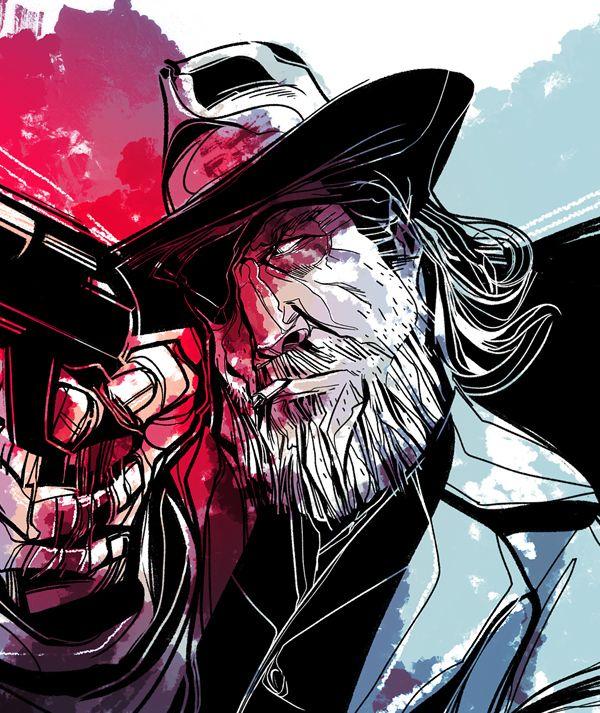 VDI / Rooster Cogburn | illustration by César Moreno, via Behance