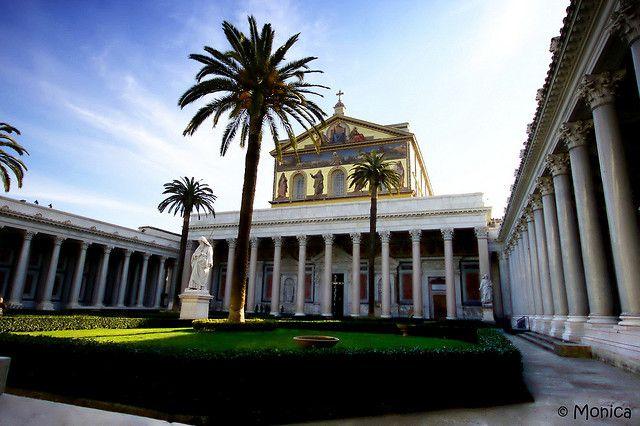 Basilica Di San Paolo Fuori Le Mura Roma Rome Basilica Places To Visit