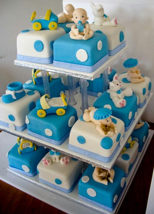 Small Square Cakes Baby Shower Ideas Pinterest Cake Birthday