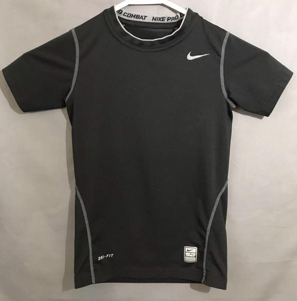 39844d9ed430b6 Nike Pro Combat Compression Shirt Boys Size Small - Black