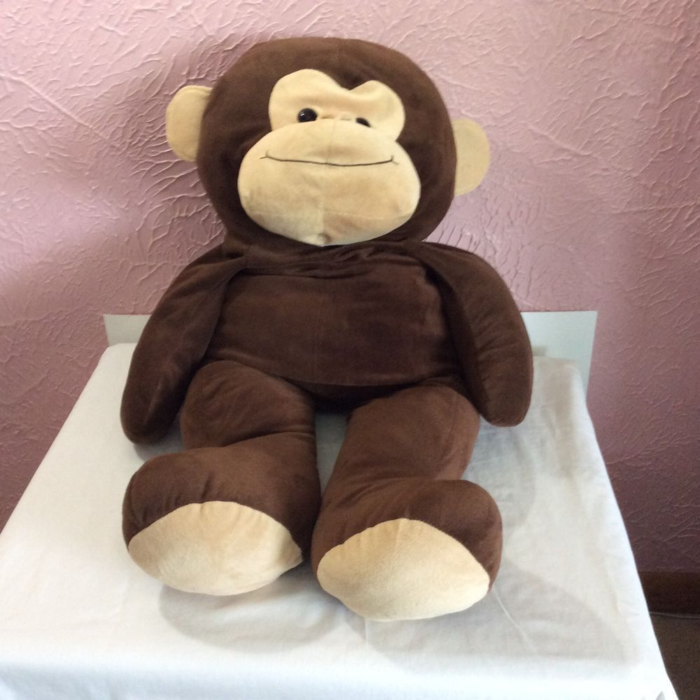 Toys R Us Plush Stuffed Animal Monkey 40 Brown Cuddly Jumbo