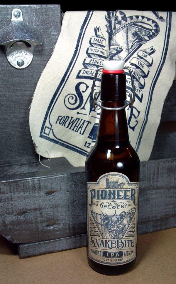 Pioneer Brewery: Snakebite IPA by Jason Thornton, via Behance