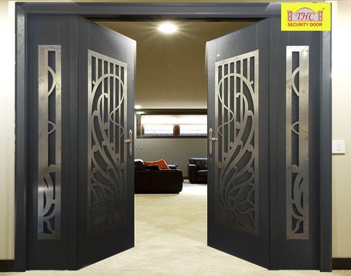 Stainless Steel Security Door Steel Door Home Door Interior Thc