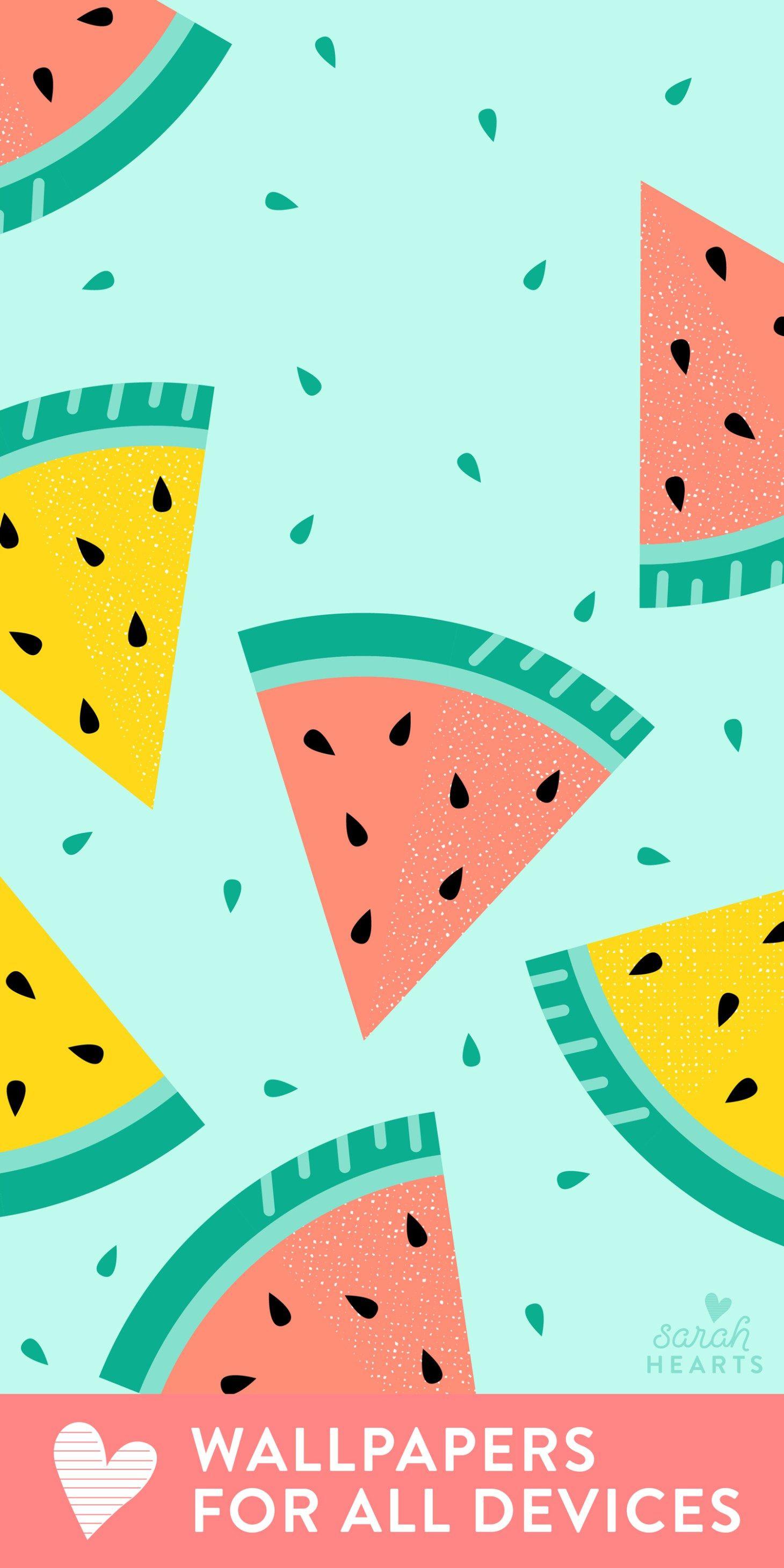 July 2018 Watermelon Calendar Wallpaper Watermelon