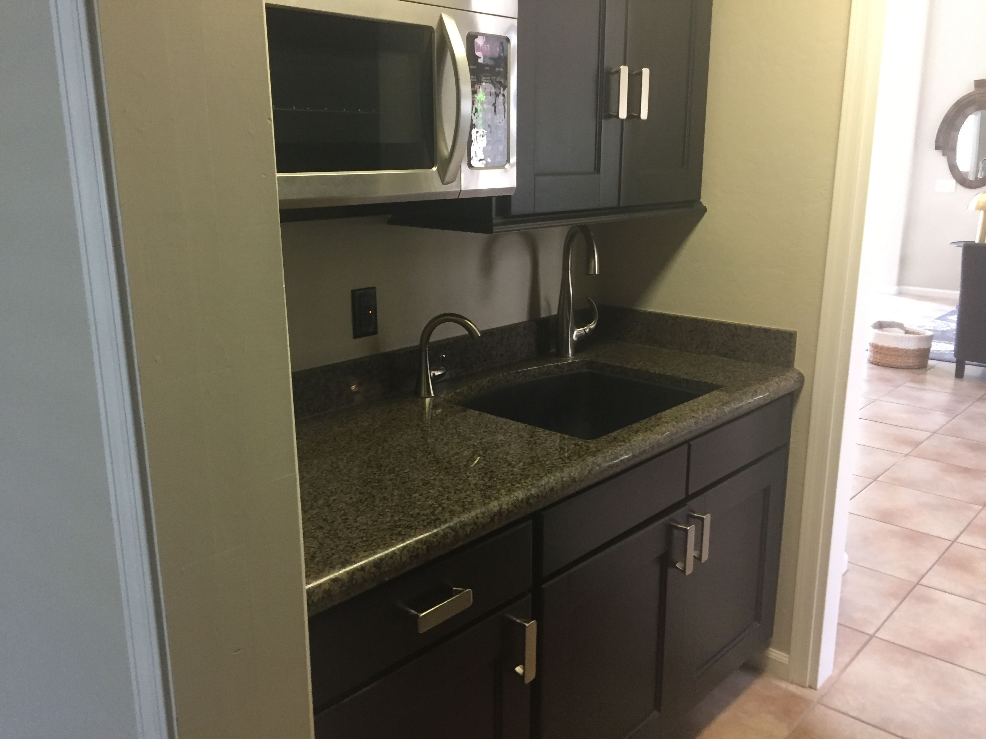 Idea For A Small Kitchenette Area For Airbnb Option Small Kitchenette Airbnb Design Kitchenette