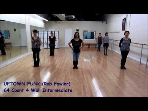 Uptown Funk Line Dance Dance Teach Youtube Uptown Funk Line Dancing Uptown Funk Dance