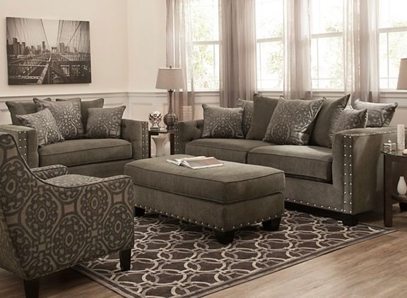 Cindy Crawford Calista Microfiber Chair-and-a-Half | Living Room Chairs | - Cindy Crawford Calista Microfiber Chair-and-a-Half Living Room