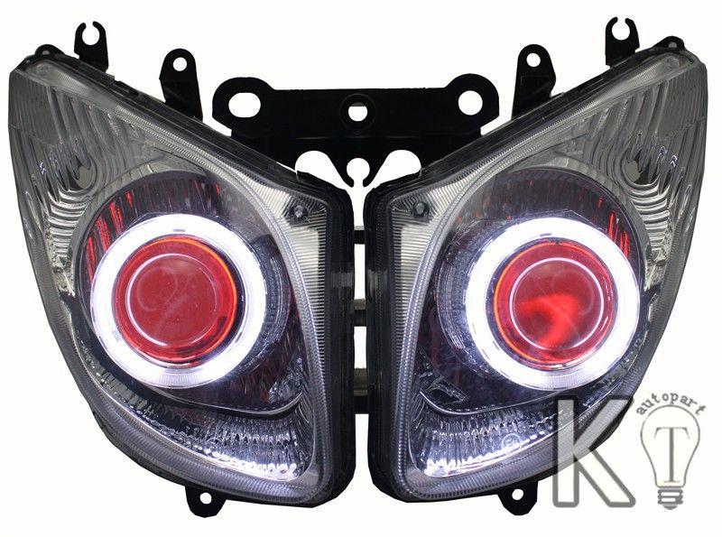 Yamaha T-MAX TMAX Angel eye HID Projector Light Custom Headlight Assembly 2008 2009 2010 2011
