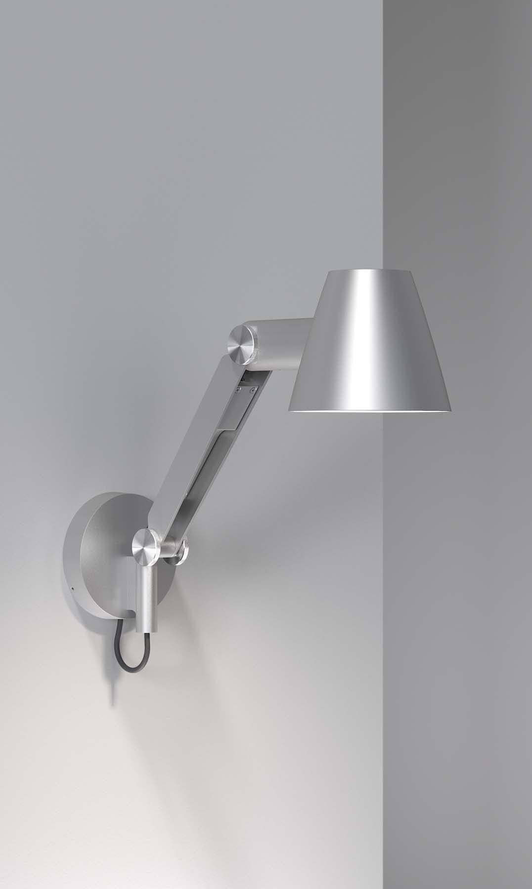 Cult   Wall lamp from Nordlux   Designed by Bønnelycke mdd   Nordic and Scandinavian style   Produced in silver grey metal   Light   Decoration   Designed in Denmark