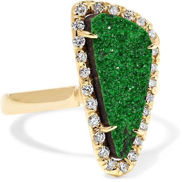 Kimberly McDonald 18karat gold garnet and diamond ring 6525