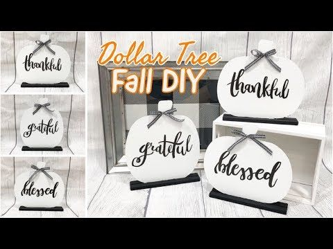 FARMHOUSE FALL DECOR | DOLLAR TREE DIY - YouTube #dollartreecrafts