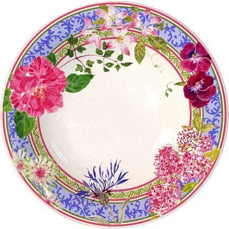 Gien France - Millefleurs Low Cereal Bowl (US)