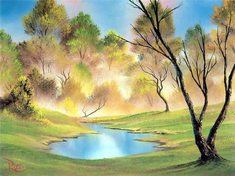 Природа нарисованные открытки