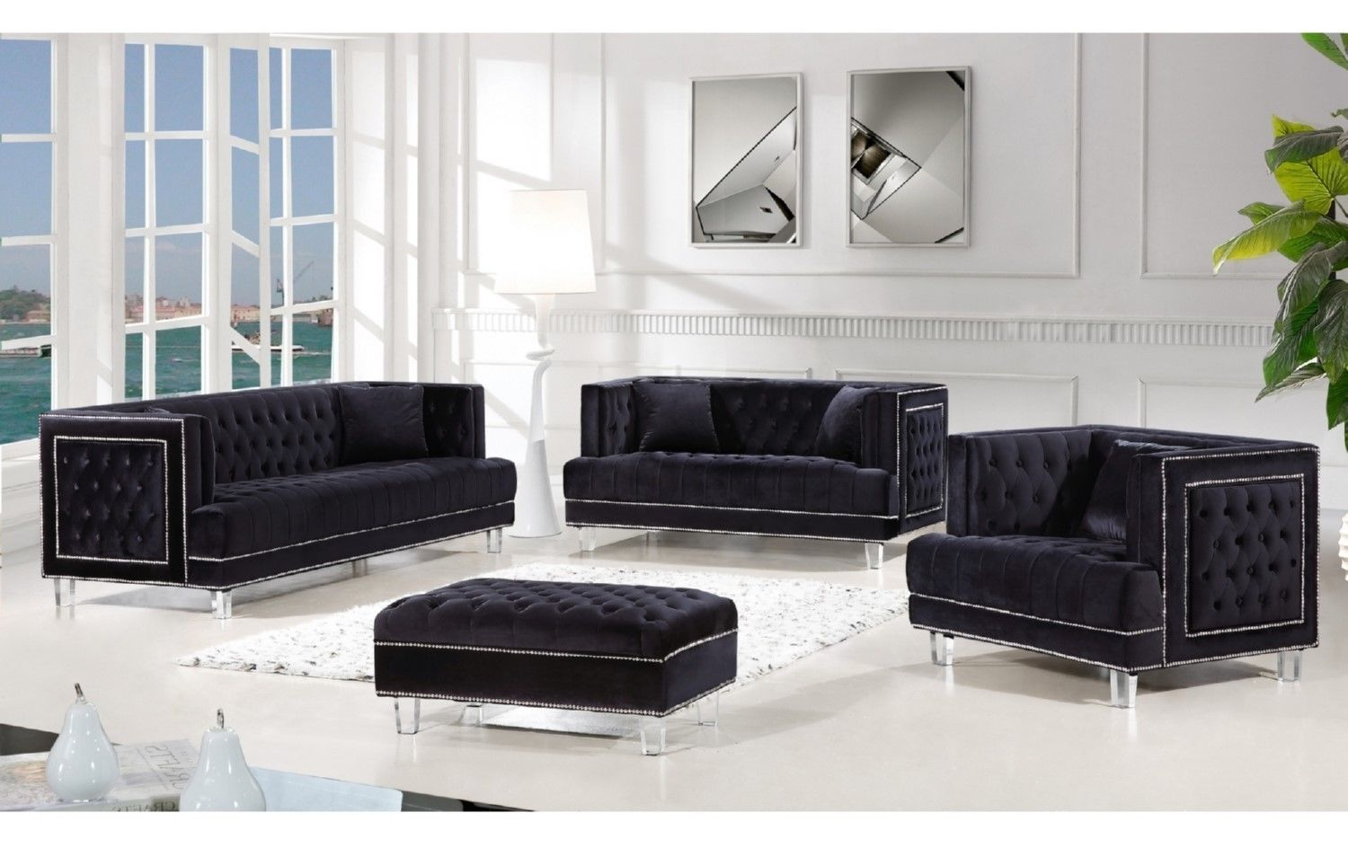 2649 99 3pcs Set Living Room Tufted Sofa Loveseat Chair