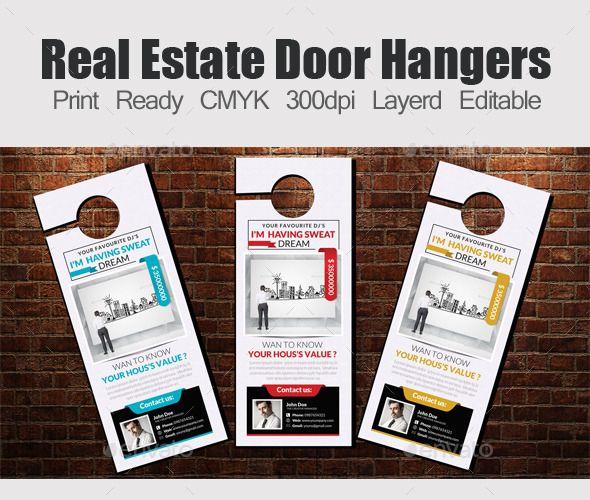 Real Estate Door Hangers Template  Door Hanger Template Real