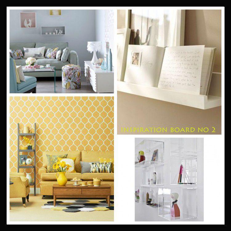 Inspiration Boards, Wall, Shelves