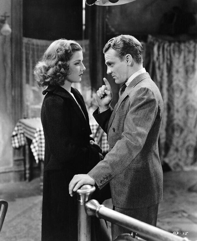 James Cagney and Ann Sheridan