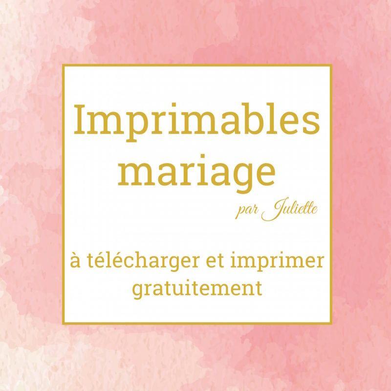 Les imprimables mariage de Juliette - La Robe de Juliette