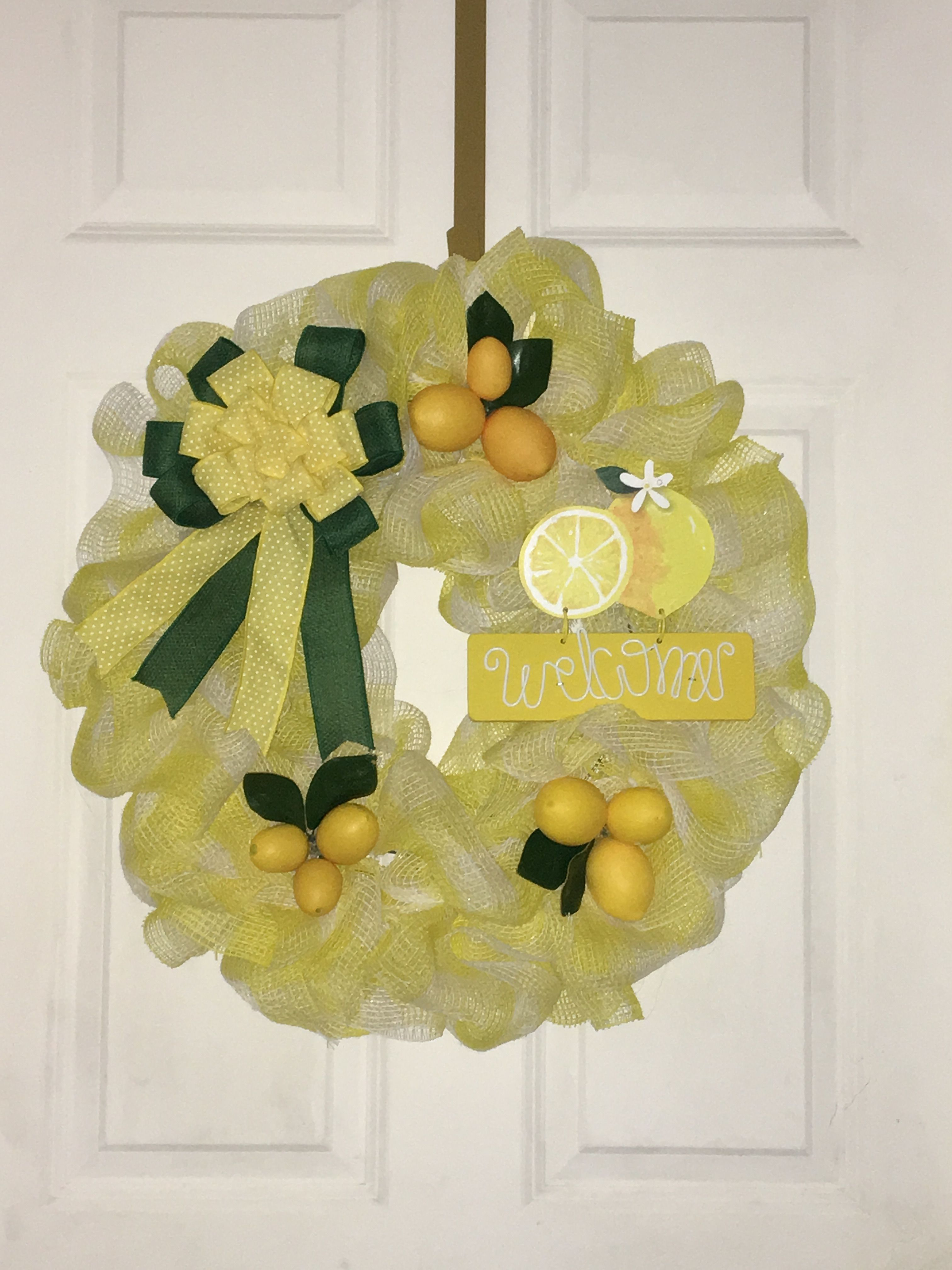 Pin by Debbie Merchant on Wreaths wreath, Yellow