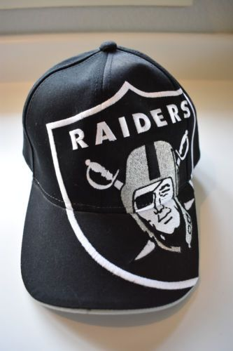 012a7d2eb Oakland Raiders Reebok Vintage Retired Large Raider Logo Cap Hat ...
