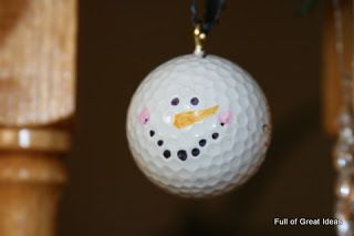 Golf Ball Snowman Christmas Ornament Craft | AllFreeChristmasCrafts.com