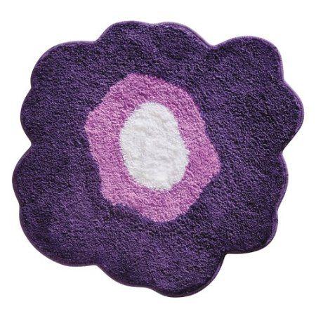 amazon: interdesign design poppy rug, purple, 26 inch