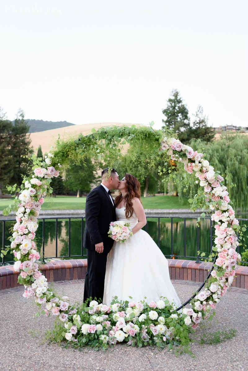 Circular Floral Arch Pink Floral Arch Ideas Wedding Arches