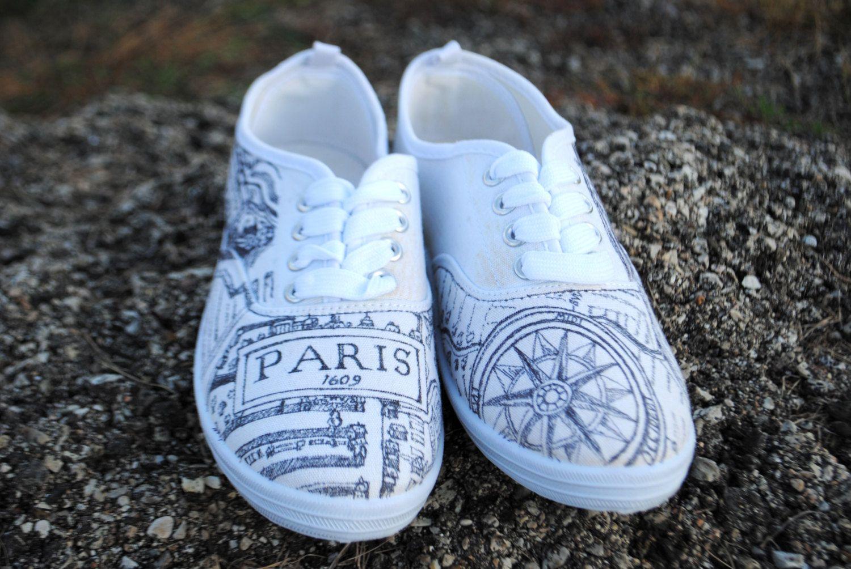 Vintage Map of Paris Canvas Shoes by BueskingCanvas on ...
