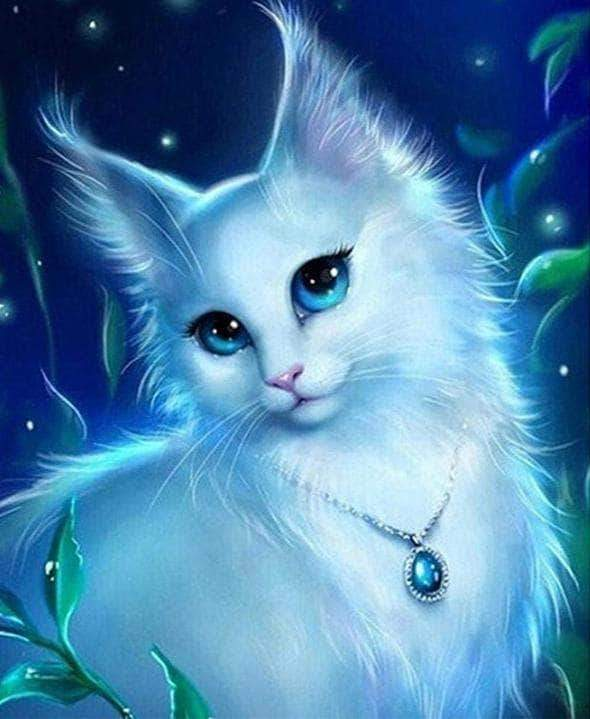 Buy Moon Cat Diamond Painting Kit At 30 Off Pretty Neat Creative Anime Animals Cat Art Animal Drawings