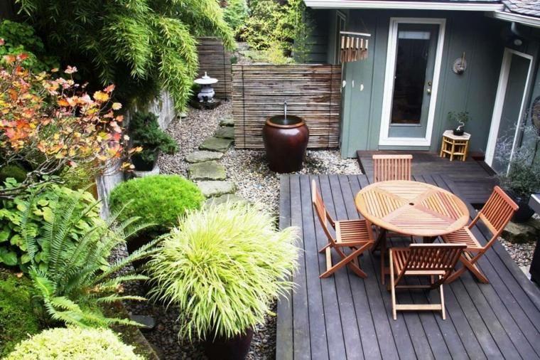 petit jardin id es pour un joli petit espace gravier. Black Bedroom Furniture Sets. Home Design Ideas