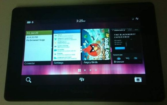 Another Leaked Image Showing The BlackBerry PlayBook Running