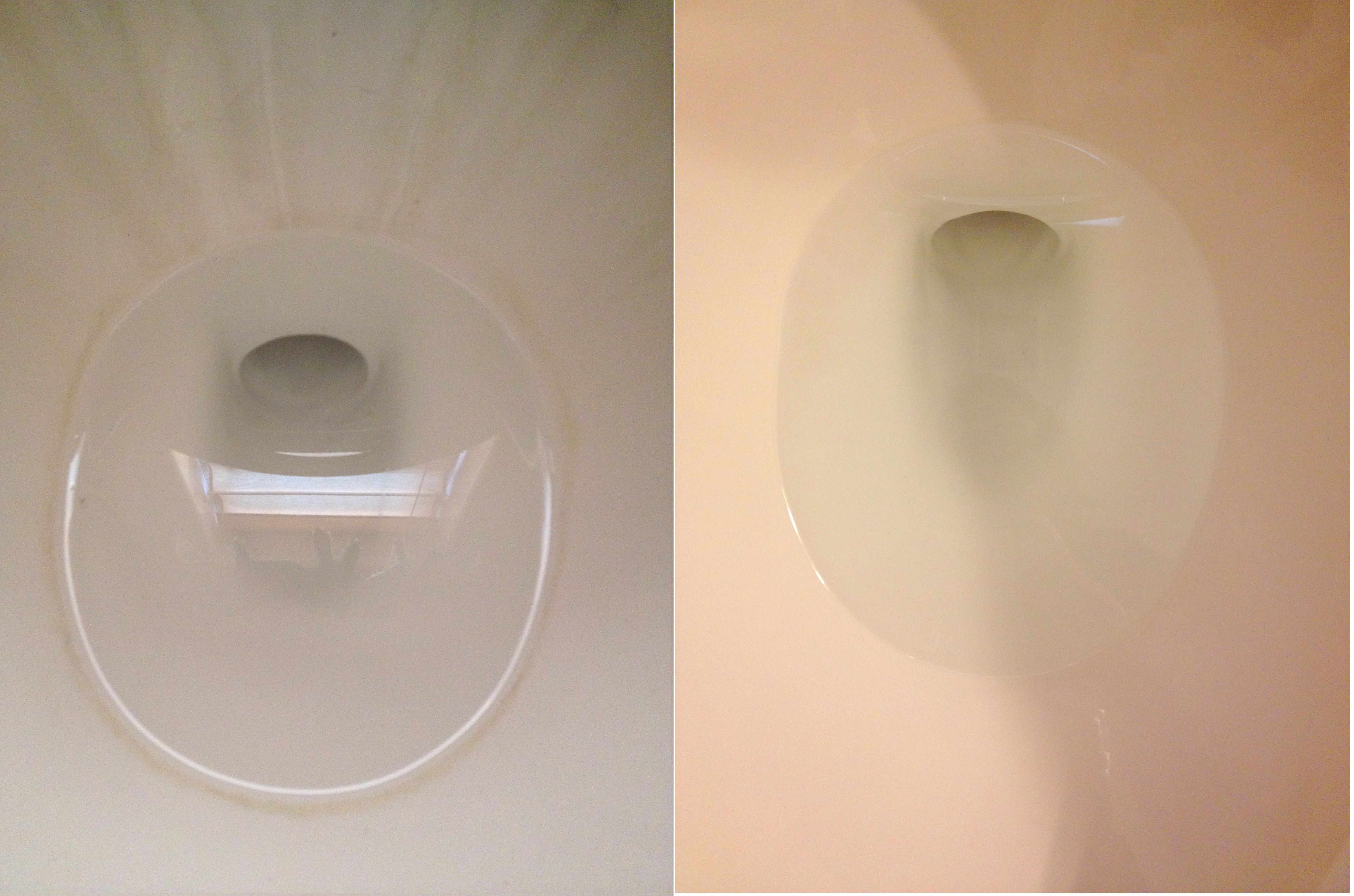 Hard water stains on stainless steel - Get Rid Of The Hard Water Ring Around Your Toilet Bowl Use 2 Cups Of Vinegar And Sprinkle 2 Tablespoons Of Baking Soda And Watch The Stains Start To Sizzle