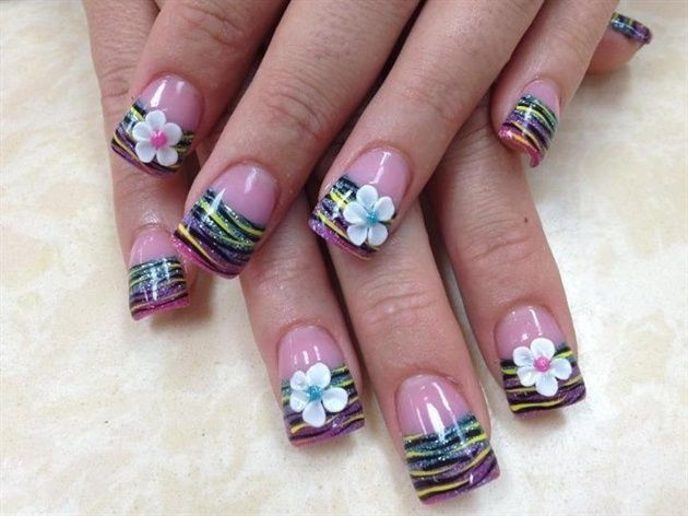 Nail it spring nail trends tips flowers 3d and nail nail flowers nail art prinsesfo Gallery
