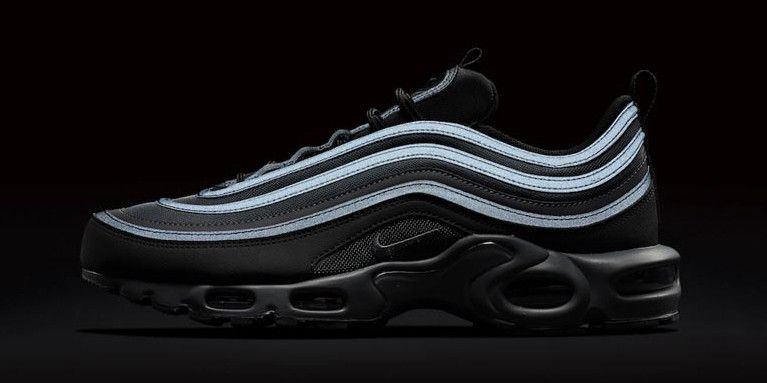fb77539d8e Nike Releases Air Max 97 Plus in Black with Reflective Details ...