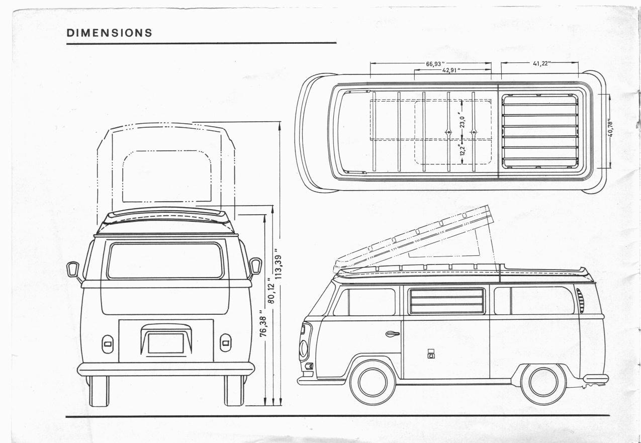 Vanagon Westfalia Interior Dimensions