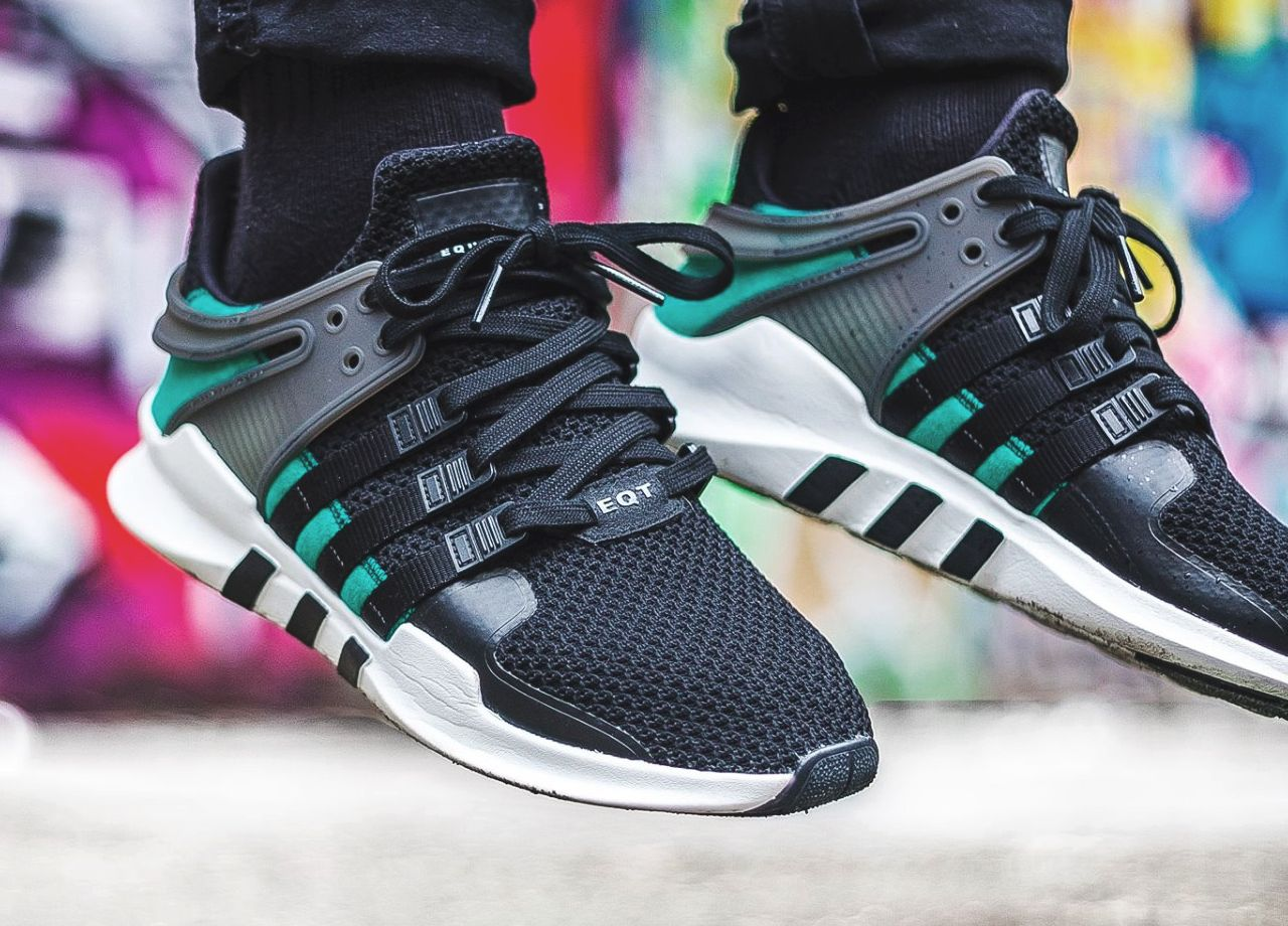 ADIDAS ORIGINALS EQUIPMENT Support EQT ADV Black Sub Green