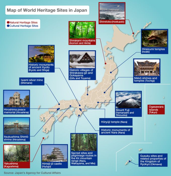 Map of world heritage sites in japan nippon part 2 pinterest japanese culture map of world heritage gumiabroncs Images