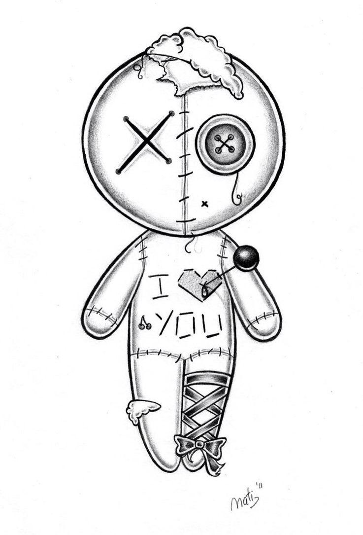 Scary Doll Drawing : scary, drawing, Drawings,, Scary, Drawing