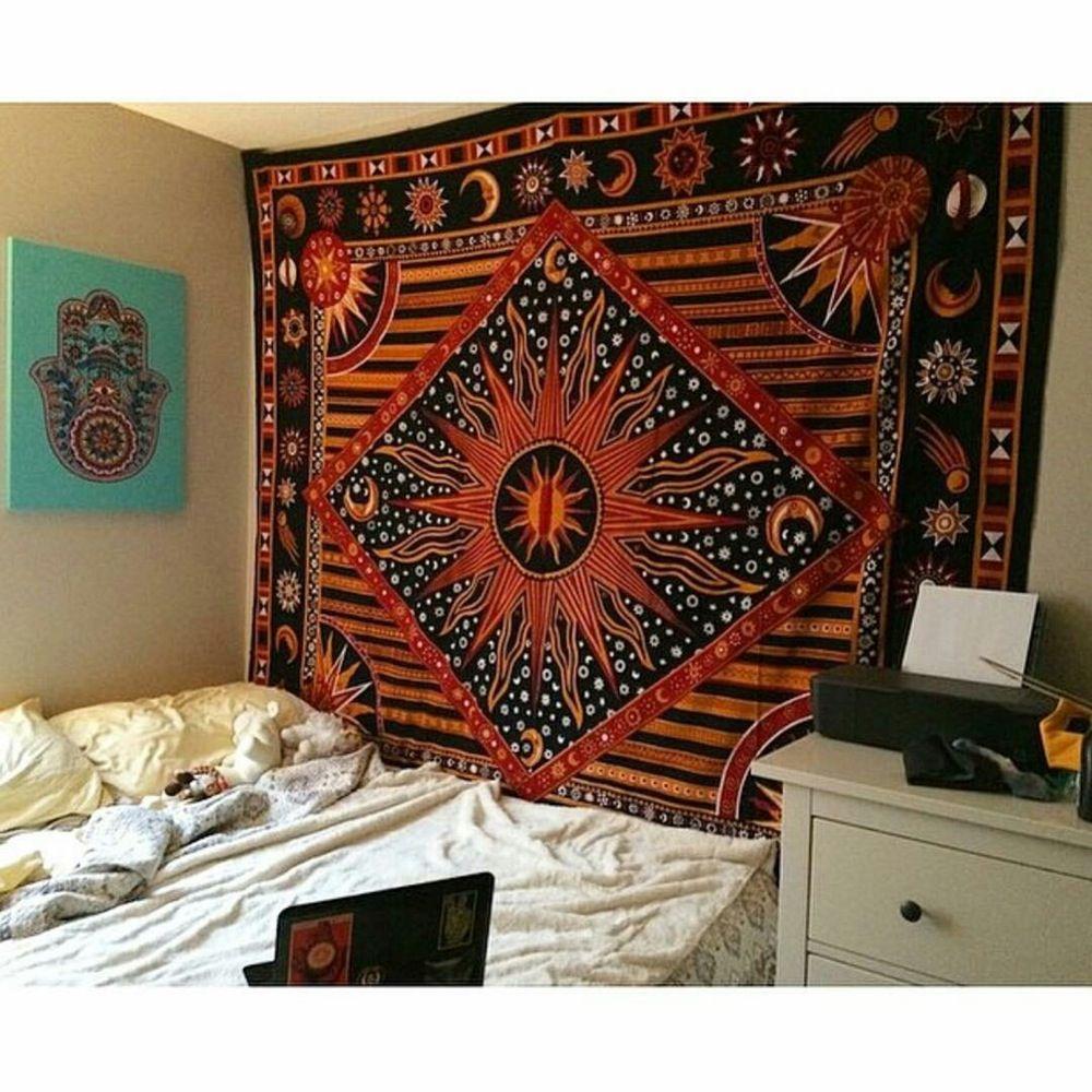 Indian Mandala Bedspread Hippie Tapestry Twin Wall Hanging Throw Rug Decor USA