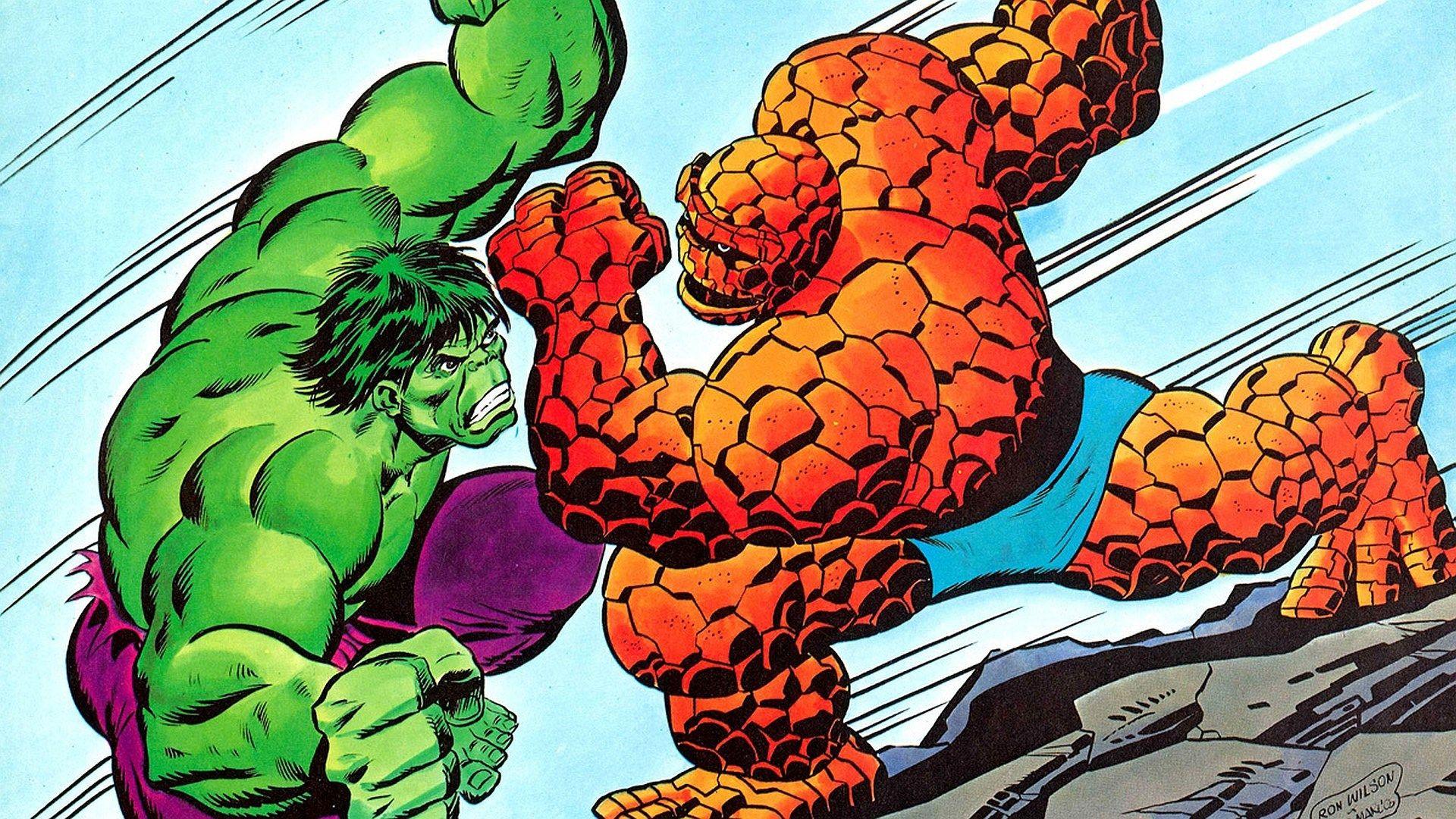 cool hulk vs_ thing wallpaper - hulk vs_ thing category