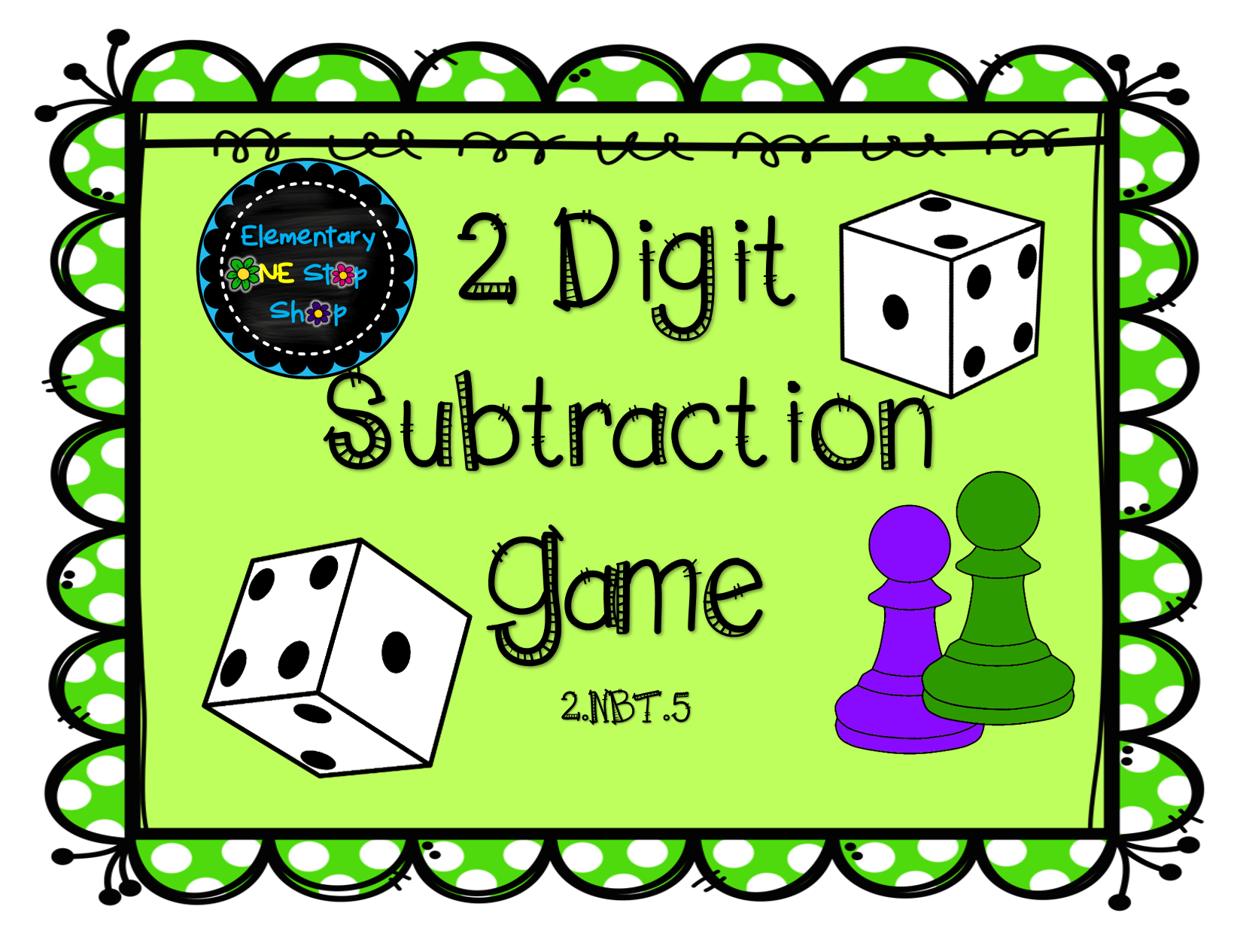 2 Digit Subtraction with Regrouping Game | Game cards, Game boards ...
