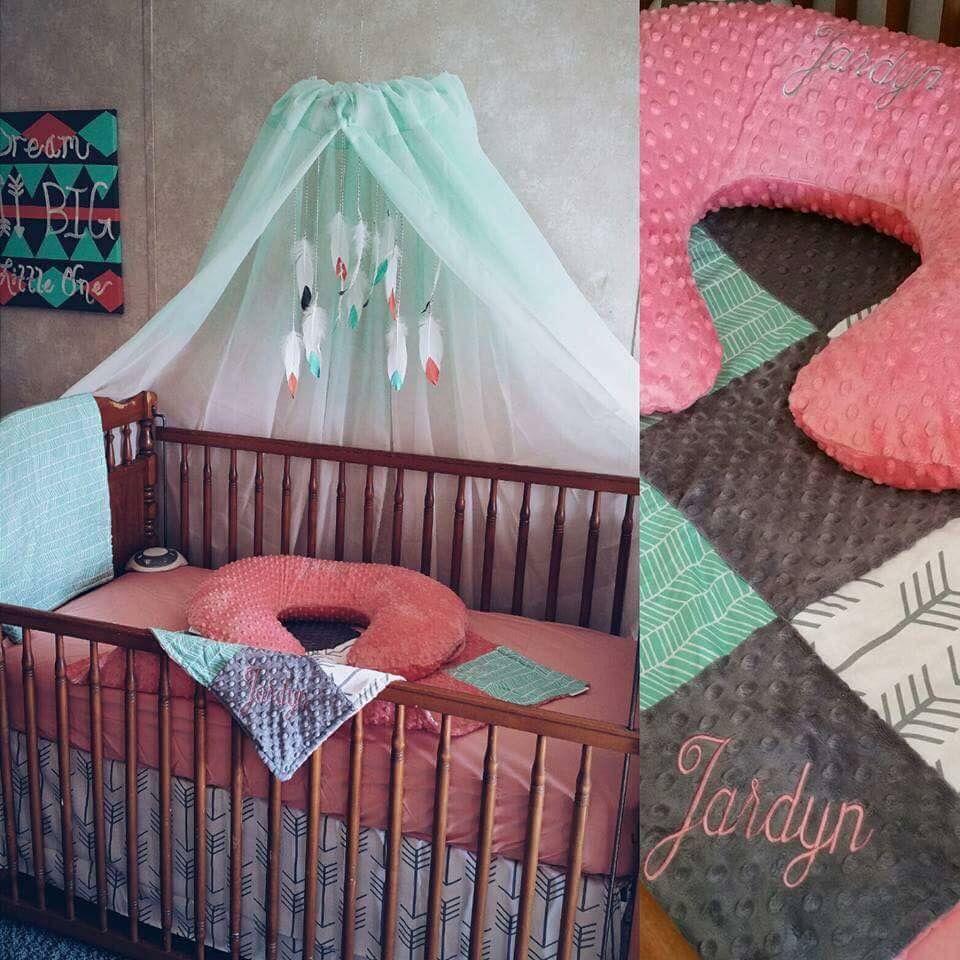 Adorable baby girl nursery.