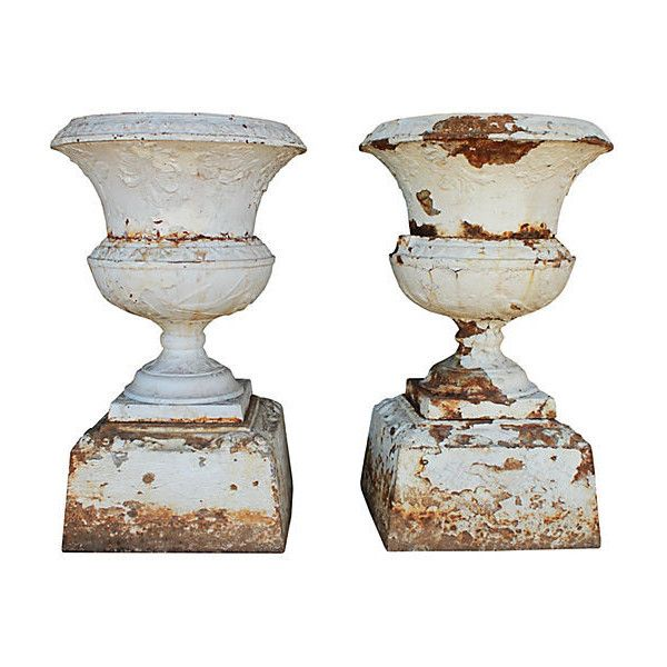 Decorative Large Urns Alluring Preowned Large Victorian Urns Pair 2700 Cad ❤ Liked On Inspiration Design