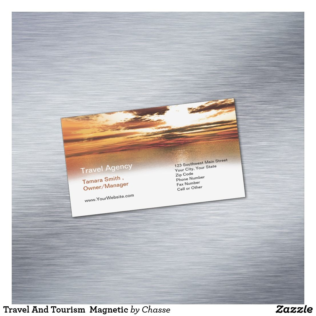 Travel And Tourism Magnetic Business Card Magnet | Guest Pinner ...