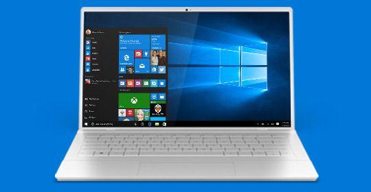 ea5fdd438c75 Equipo portátil abierto con la pantalla Inicio de Windows 10 | Tec ...