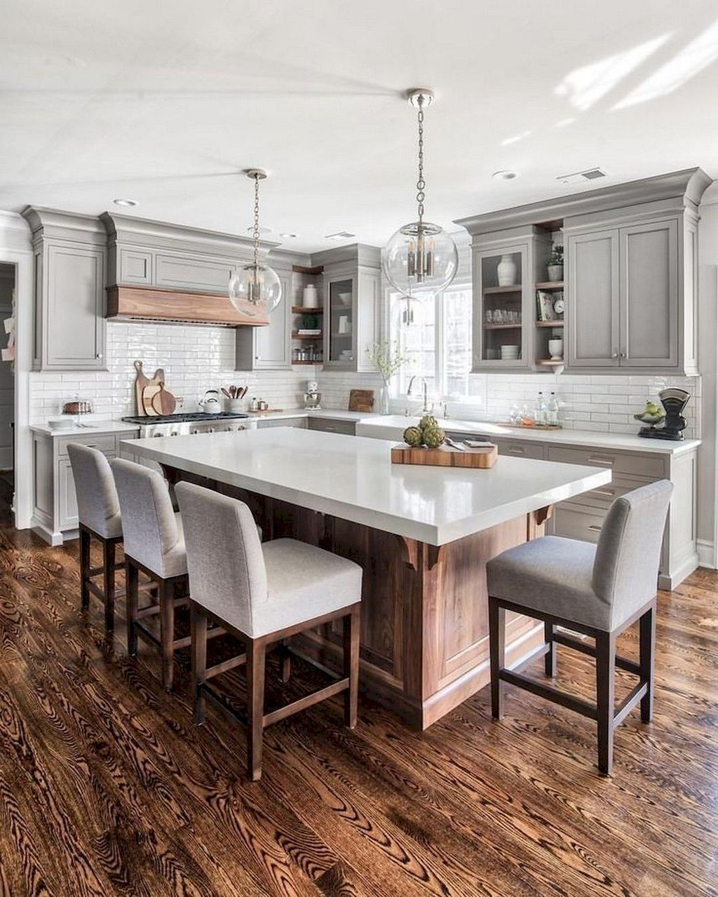 35 Awesome Gray Kitchen Cabinet Design Ideas Kitchen Design Countertops Grey Kitchen Designs Kitchen Design