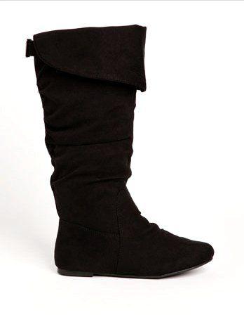 cheap black flat boots