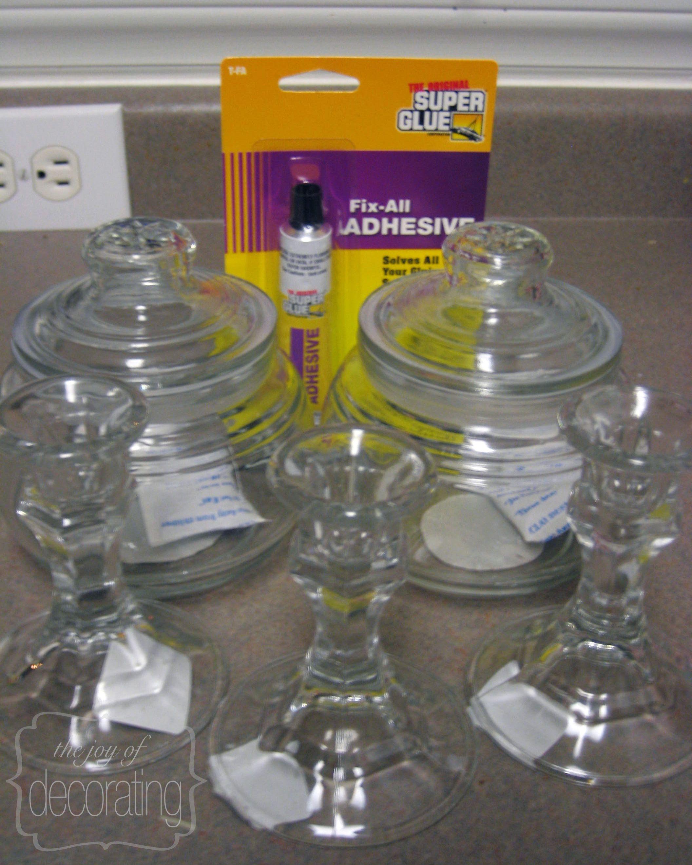 Diy Apothecary Jars Glass Art Desires Bricolage Astuce Bricolage Deco Noel