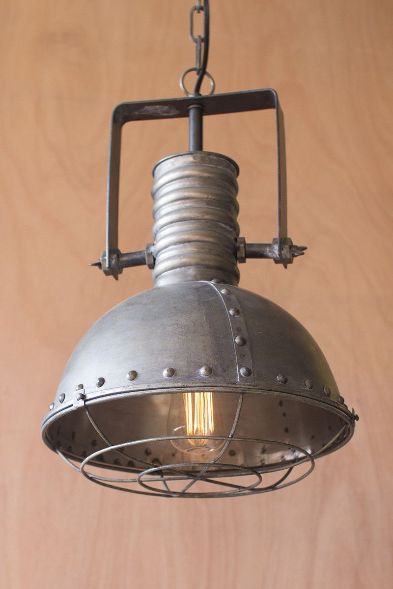 This industrial light will make a statement in any home whether